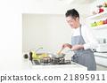 廚房 烹飪 食物 21895911