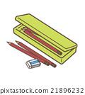 필통과 연필 21896232