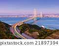 Akashi Kaikyo Bridge in Kobe, Japan 21897394