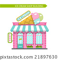 Ice cream shop building vector illustration 21897630