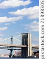 Brooklyn Bridge and Manhattan Bridge, NYC, USA 21898305