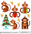 banana, christmas, monkey 21899912