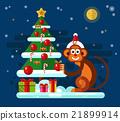 christmas, monkey, tree 21899914