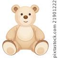 Vector brown  bear. 21901222