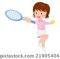 테니스를 즐기는 여성 21905404