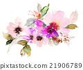 Flowers watercolor illustration 21906789