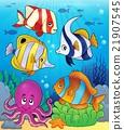 Coral fauna theme image 5 21907545