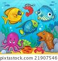 Coral fauna theme image 6 21907546