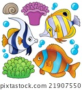 Coral reef fish theme collection 3 21907550