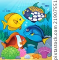Coral reef fish theme image 4 21907551