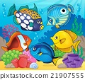 Coral reef fish theme image 8 21907555