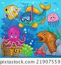 Fish snorkel diver theme image 3 21907559