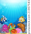 Ocean underwater theme background 5 21907583