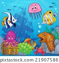 Underwater ocean fauna theme 8 21907586