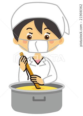 學校午餐 認證廚師 矢量 21908362