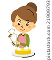 烘焙甜点 鲜奶油 装饰 21909793
