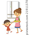 披薩 父母和小孩 親子 21911370