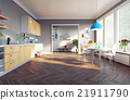 modern kitchen interior 21911790