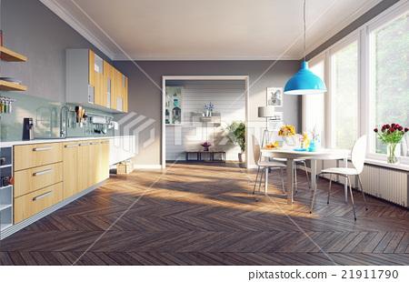 modern kitchen interior 21911790