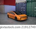 電動汽車 集裝箱堆場 車 21912740