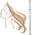 Female profile 21913126