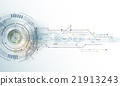 Abstract futuristic eyeball on circuit board 21913243