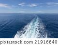 海洋 汽艇的尾波 車轍 21916640