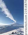 View on eruption Klyuchevskoy Volcano 21916870