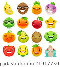 Funny Cartoon Fruits and Vegetables with Different 21917750