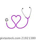 Stethoscope in shape of heart in purple design  21921380