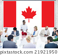 Canada National Flag Business Team Meeting Concept 21921950