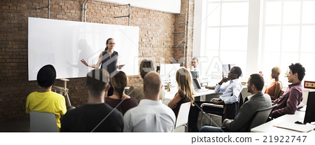 Stock Photo: Business Team Training Listening Meeting Concept