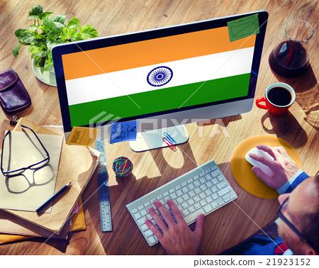 India Flag Patriotism Indian Pride Unity Concept 21923152