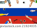 Russia Flag Patriotism Russian Pride Unity Concept 21924035
