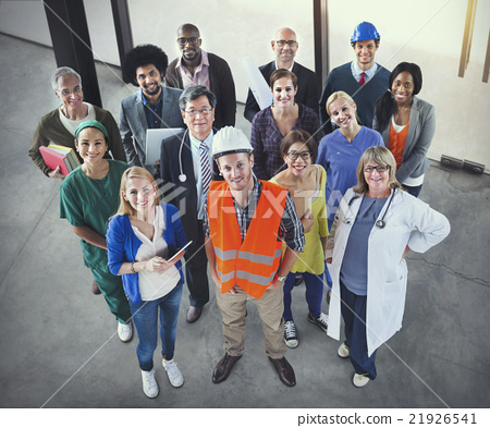 Stock Photo: Celebrating Diverse People Various Occupations Concept