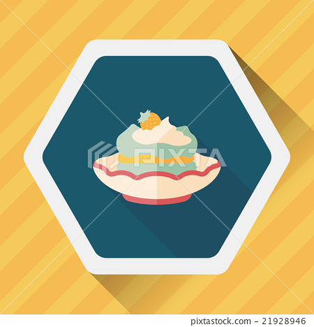 cake flat icon with long shadow,eps10 21928946