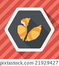 croissants flat icon with long shadow,eps10 21929427