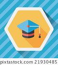 Education Cap flat icon with long shadow,eps10 21930485