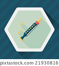 Recorder flat icon with long shadow,eps10 21930816