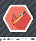 Recorder flat icon with long shadow,eps10 21930902