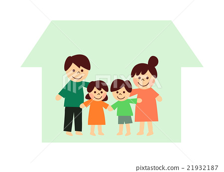 네 명의 가족과 집 21932187