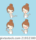 cartoon skin care woman 21932380