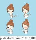 cartoon skin care woman 21932380