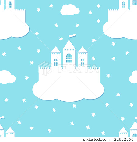 Seamless pattern with white castles 21932950