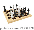 Chess board game isolated on white background 21939220