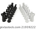 White and black chess isolated on white background 21939222