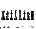 Black chess pieces isolated on white background 21939223