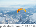 paragliding, mountain, winter 21942734