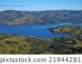 Distant view of Akaroa and Akaroa Harbour 21944281
