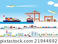 distribution, logistics, vector 21944692